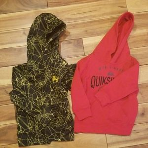 Quiksilver and Under Armour 2T Boys Sweatshirt Lot